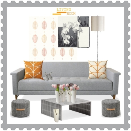 Interior Harmony on http://ideafill.me | grey, orange, minimalism