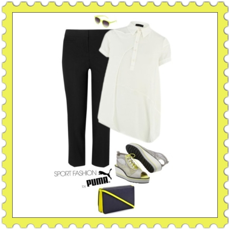 Sport Fashion on http://ideafill.me | black-color, body, care, crop-trousers, face, fashion, fit, health, heeled-sandals, mind, mini-bag, outfit, soul, sport, sunglasses, white-color, yellow-color