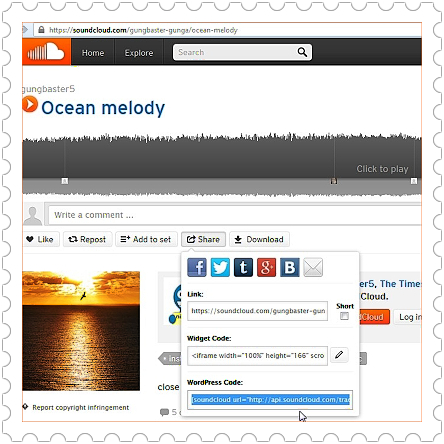 Soundcloud embed music