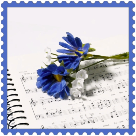 Piece of Music on ideafill.me | indigo-color, flowers