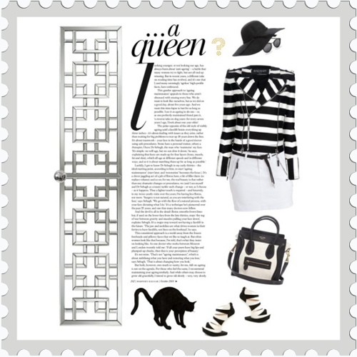 Be a Queen | ideafill.me |how-to-be, outfits, quotes, success, women, black, collage, destiny, grey-color, high-heels, lady, queen, stripes, white, woman